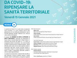 """15 gennaio 2021 Convegno """"La pandemia da covid-19: ripensare la sanità territoriale"""" """""""