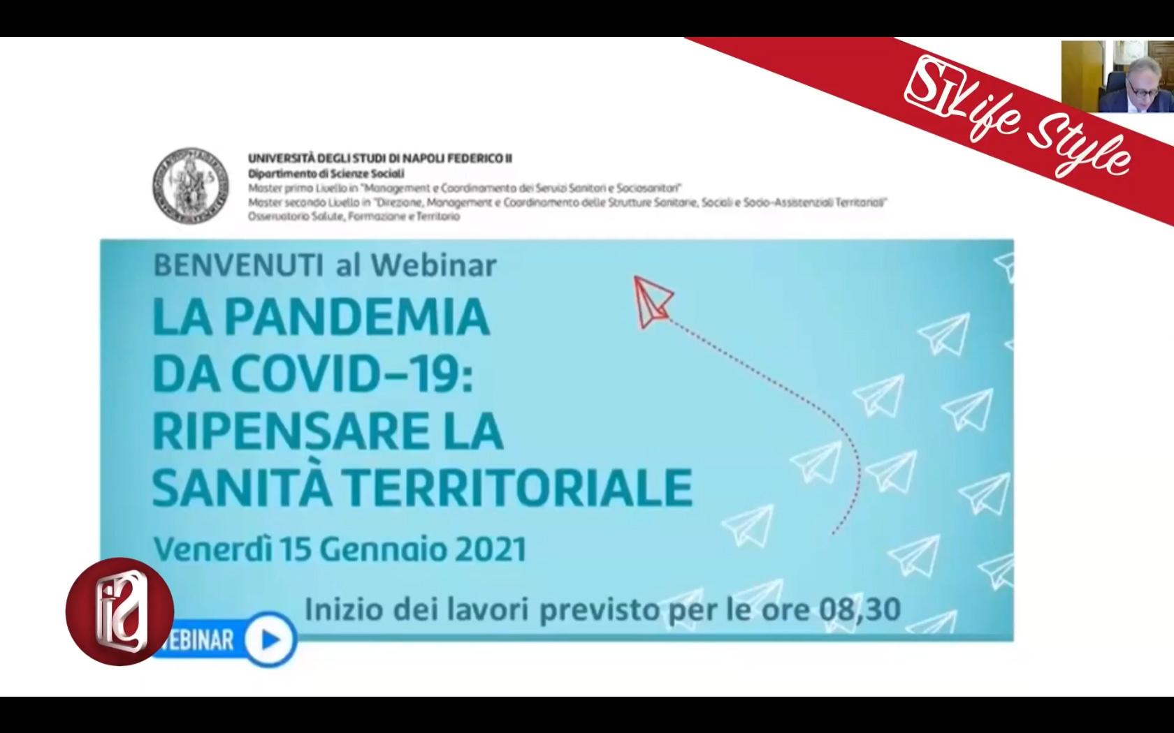DOPO IL COVID RIPARTIRE DALLA SANITA' TERRITORIALE, IL WEBINAR DELLA FEDERICO II